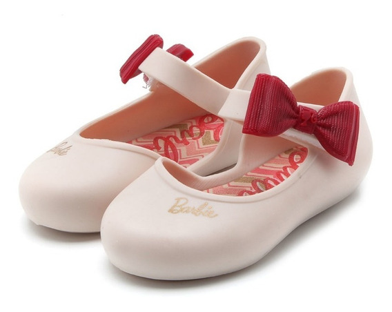 Sapatilha Infantil Barbie Happy Bebê Laço Grendene Calçado