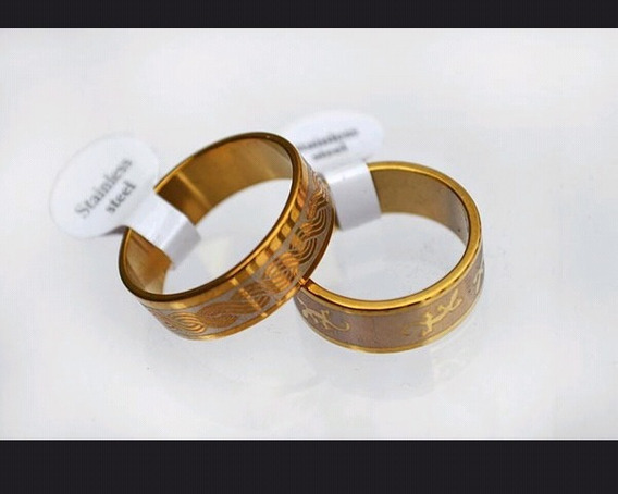Anel Gold Steel Vários Tamanhos (leia A Descrição).