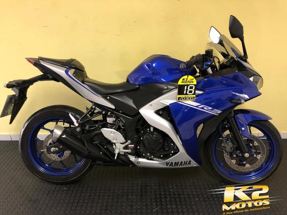 Oferta Yamaha Yzf R3 321cc 2018 Azul C/ Freio Abs