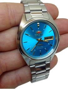 Relogio Orient Automatico 21 Jewels - Cristal 3 Estrelas Az