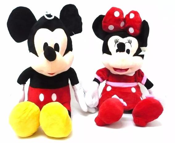 3 Pelúcias, 1 Mickey, 1 Minnie Vermelha E 1 Pluto Tam:30cm