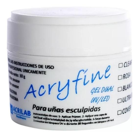 Gel Acryfine Construccion Uv/led Uñas Esculpidas 30gr.