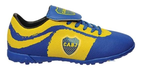 Zapatillas Futbol Boca Juniors Running Mmk Bj522