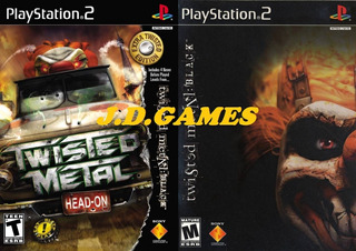 Twisted Metal:black Twisted Metal:head-on Extra Twisted Ps2