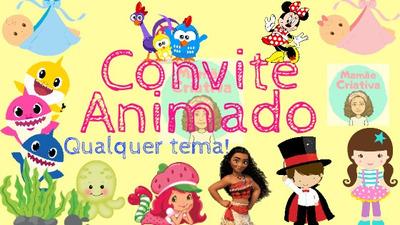 Convite Animado Todos Os Temas