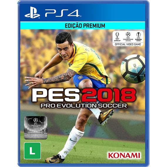 Jogo Pes 2018 Pro Evolution Soccer 2018 Ps4 Midia Fisica