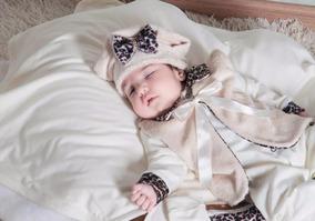 Kit Saída Maternidade Oncinha Para Menina 4 Peças - Barato