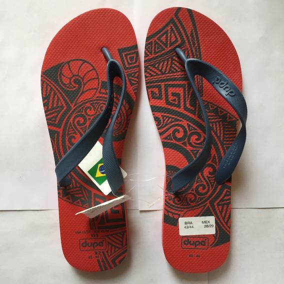 Sandalias Hombre Brasileñas Playa Dupe 2090 Rojo Figura