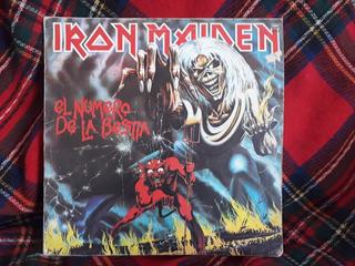 Disco De Vinilo, Iron Maiden, El Número De La Bestia 1982