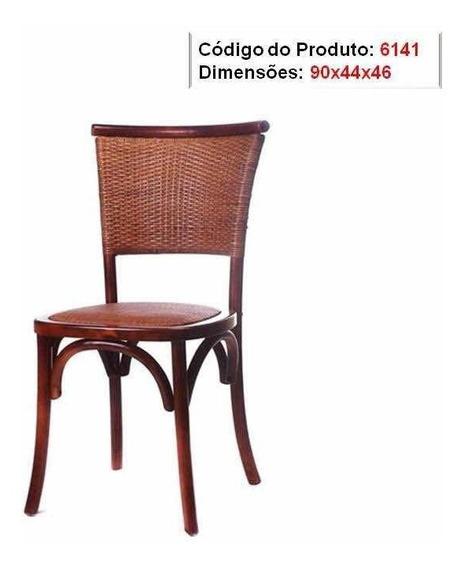 Cadeira Paris Com Encosto Em Rattan Natural