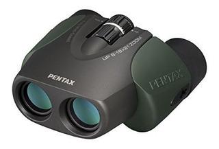 Binoculares De Zoom Compacto 8-16x21 Pentax Arriba (verde)