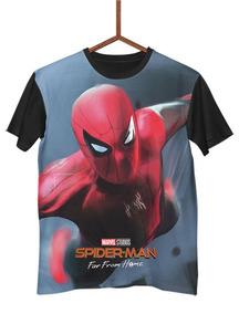 Camisa Camiseta Spiderman Far From Home Marvel Comics G0160