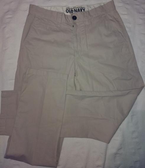 Pantalon Chinos Old Navy Slim Gabardina Nuevo Talle 28/30