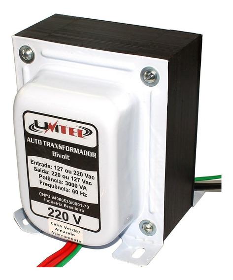 Auto Transformador 60 Hz Bivolt 3000va Unitel