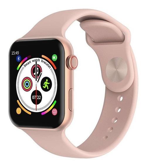 Smartwatch F10 Relógio Inteligente Fitness Rosa
