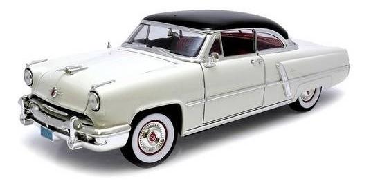 1952 Lincoln Capri Branco - Escala 1:18 - Yat Ming