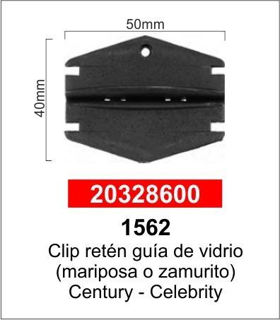 Guía Vidrio Mariposa Zamurito Century Celebrity Blazer Paq5