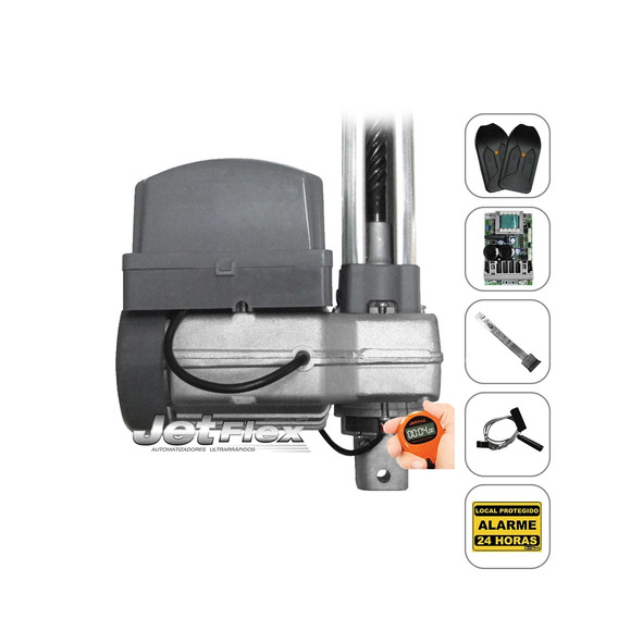 Kit Motor De Portão Eletrônico Basculante Ppa Jet Flex 1/3