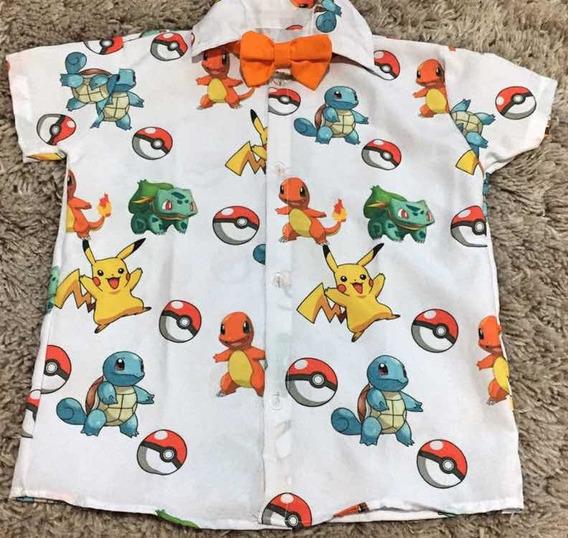 Camisa Pokemon Linda Festa Aniversario