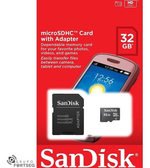 Cartão De Memória 32gb + Adaptador Sandisk