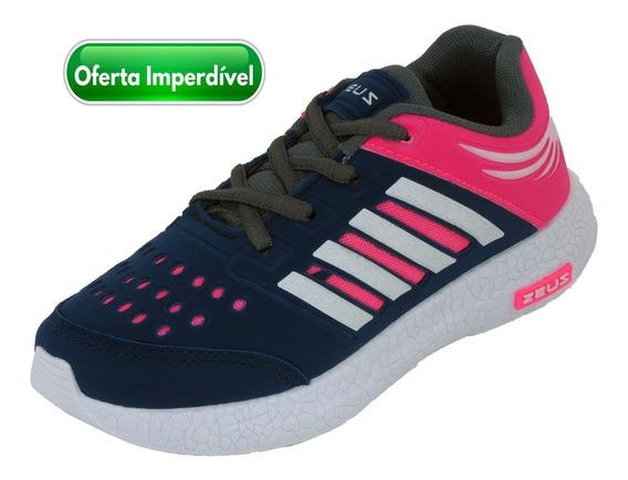 Tênis Feminino Infantil Esportivo Zeus Barato Frete Grátis