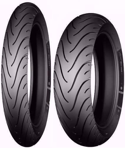 Par Pneu 60/100-17 + 80/100-14 Michelin Pilot Street Biz *