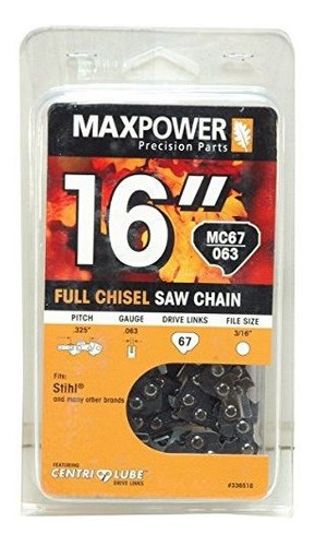 Imagen 1 de 1 de Maxpower 16  Cadena De Bucle Para Stihl Motosierra Mc67063