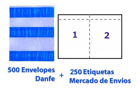 500 Etiquetas Mercado Envios + 250 Envelopes Danfe 15 X 13