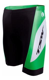 Bermuda Ciclismo Tsw Anatômica Forro Interno Preto Verde M