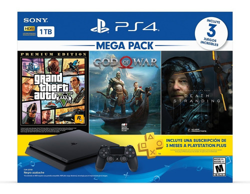 Consola Ps4 Playstation 4 1tb Con 3 Juegos Mega Pack 13