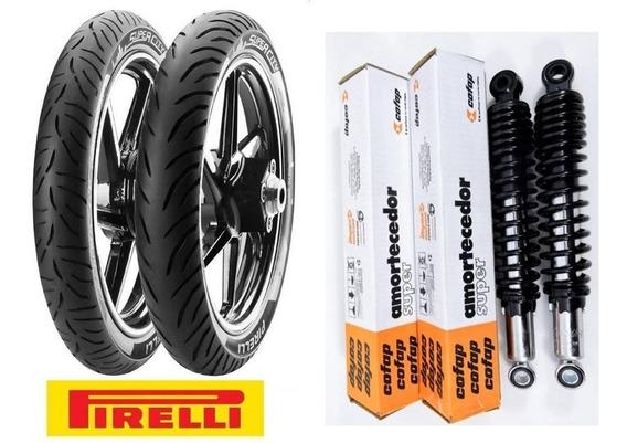 Amortecedor Titan150 + Pneu 90/90-18 - 2.75-18 - Pirelli