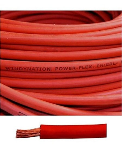 6 Calibre 6 Awg 20 Pies Bateria De Soldadura Roja Cable De C