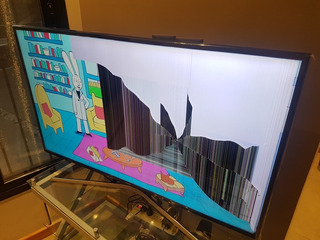 Samsung Smart Tv 4k 50 6100 Funcionando Pantalla Astillada