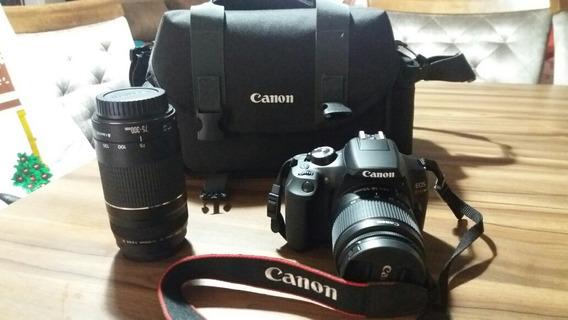 Câmera Cânon Rebel T6 Em Estado De Okm + Lentes