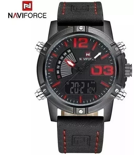 Relógio Masculino Naviforce 9095 Original Esportivo Militar