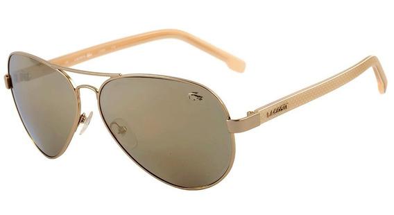Lacoste L 163s - Óculos De Sol 714 Dourado E Creme/ Dourado