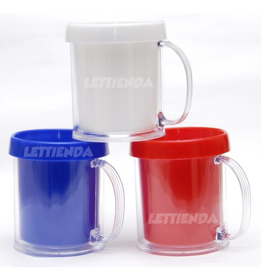 Taza Plastico Portafoto - Souvenir Oferta Precio X 20 Uds