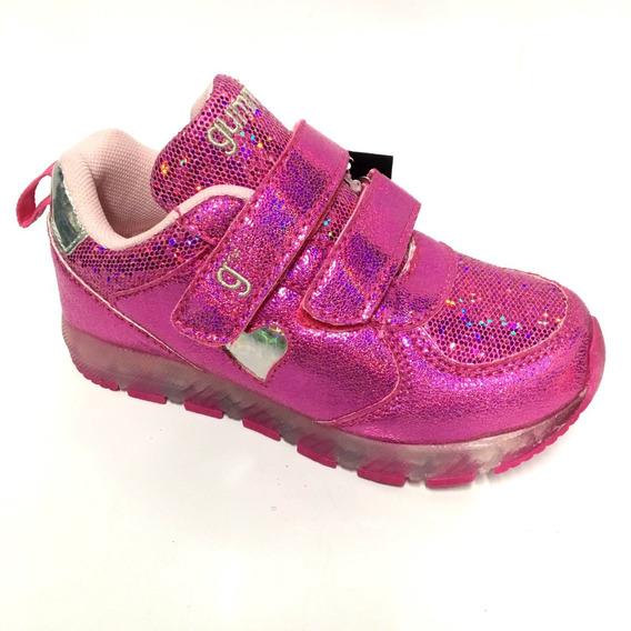 Zapatilla Con Luces Led Recargable Kids Gummi Niñas Glitter
