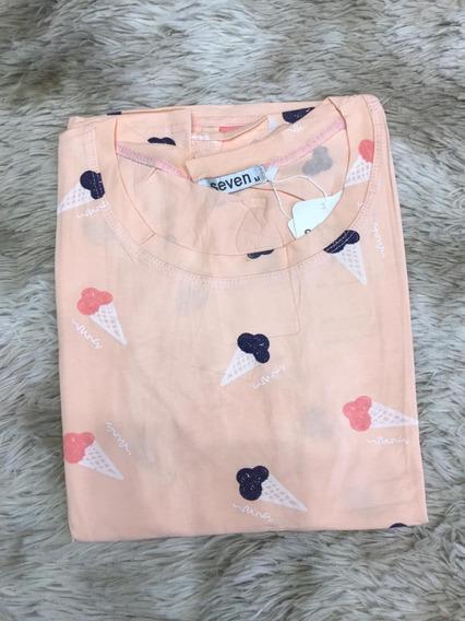 Blusa T-shirt Feminina Baby Look Estampas Sorvete Importado