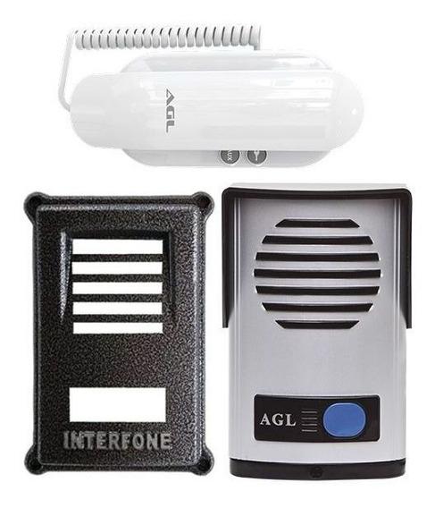 Kit Interfone Agl Residencial Porteiro Eletrônico + Protetor
