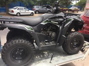 Moto Kawasaki Cuatro Ruedas Más Carro De Arrastre