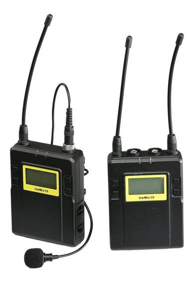 Sistema Microfone Lapela Sem Fio Saramonic Uwmic10 Uhf Wirel