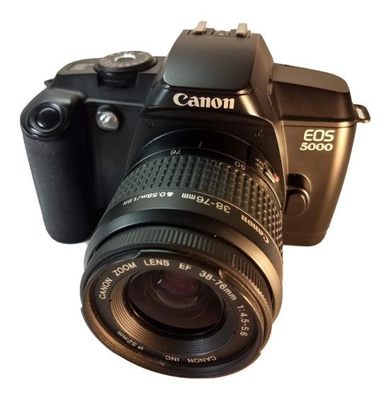 Câmera Fotográfica Analógica Canon Eos 5000 Com Bolsa