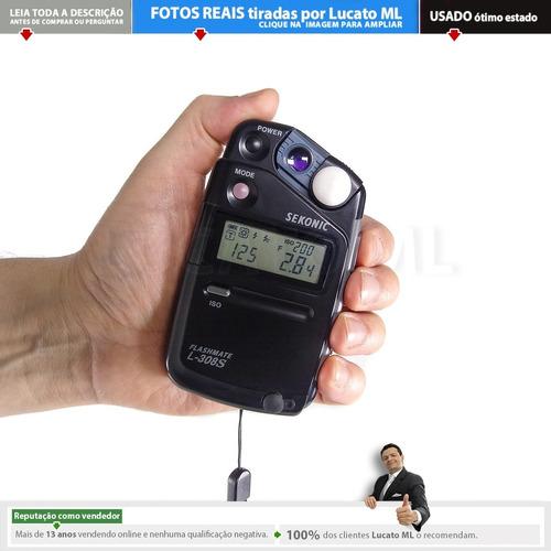 Fotômetro Impecável Flashmate Sekonic L308s + Alça