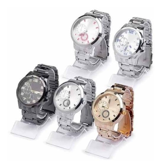 1 Relógio Luxo Masculino Atacado E Revenda + Caixa