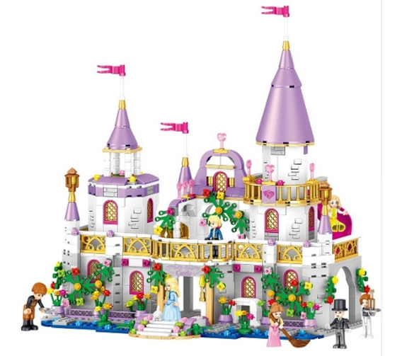 Castelo Da Princesa Compatível C/lego 731 Peças-frete Grátis