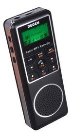 Rádio Degen De1127 Mp3 Player, Am, Fm Stéreo, Sw, Gravador