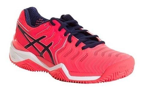 Zapatillas Asics Mujer Resolution 7 Clay Tenis Padel Pink