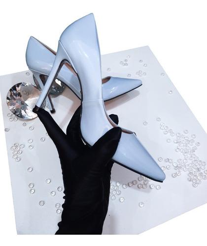 Imagem 1 de 3 de Scarpin Sapato Azul Salto Alto