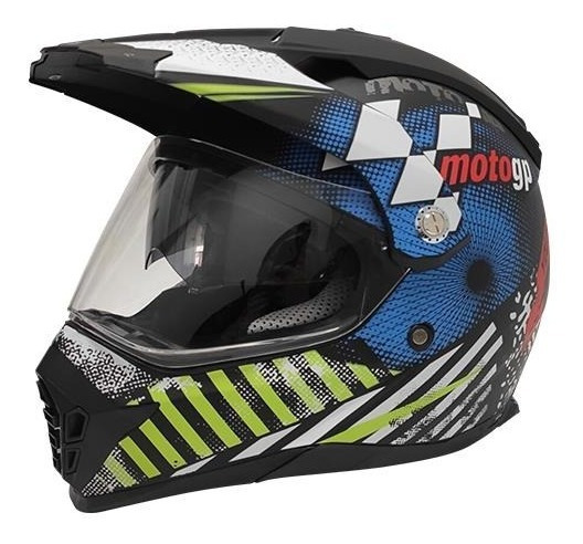 Casco Para Moto R7 Md-901 Cross City Moto Gp Azul Mate